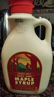 Trader Joe's 100% Pure Maple Syrup Grade B