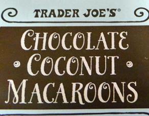 Trader Joe's Chocolate Coconut Macaroons