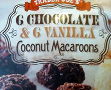 Trader Joe's 6 Chocolate & 6 Vanilla Coconut Macaroons