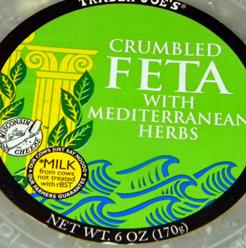 Trader Joe's Crumbled Feta with Mediterranean Herbs
