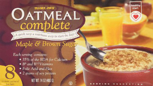 Trader Joe's Maple & Brown Sugar Oatmeal Complete