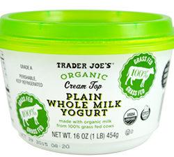 Trader Joe's Organic Cream Top Plain Whole Milk Yogurt