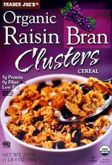 Trader Joe's Organic Raisin Bran Clusters