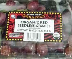Trader Joe's Organic Red Seedless Grapes