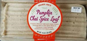 Trader Joe's Pumpkin Chai Spice Loaf