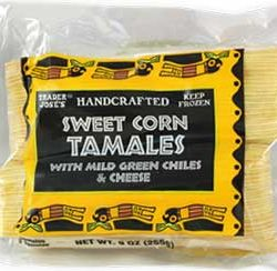 Trader Joe's Sweet Corn Tamales with Mild Green Chiles & Cheese