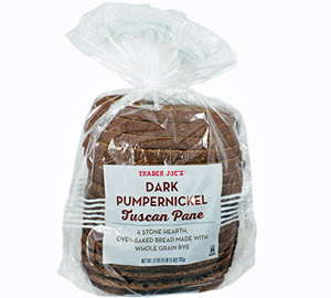 Trader Joe's Dark Pumpernickel Tuscan Pane
