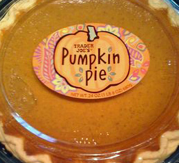 Trader Joe's Bakery Pumpkin Pie