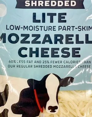 Trader Joe's Lite Mozzarella Cheese