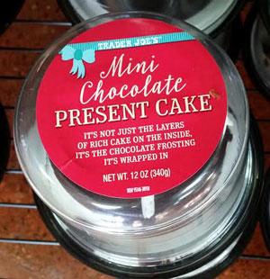 Trader Joe's Mini Chocolate Present Cake