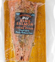 Trader Joe's Wild King Salmon on a Cedar Plank