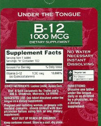 Trader Joe's Under The Tongue B-12 1000 MCG Supplement