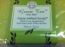 Bisous de Provence Green Tea The Vert Triple Milled Soap