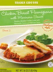 Trader Joe's Chicken Breast Parmigiana with Marinara Sauce