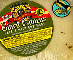 Trader Joe's Cinco Lanzas Cheese with Rosemary