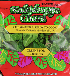 Trader Joe's Kaleidoscope Chard