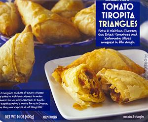 Trader Joe's Tomato Tiropita Triangles