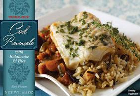 Trader Joe's Cod Provencale with Ratatouille & Rice