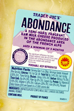 Trader Joe's Abondance Cheese