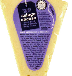 Trader Joe's Asiago Cheese