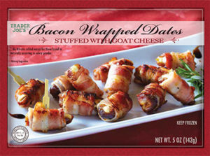 Trader Joe's Bacon Wrapped Dates with Goat Cheese