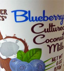 Trader Joe's Blueberry Cultured Coconut Milk Yogurt