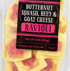 Trader Joe's Butternut Squash, Beet & Goat Cheese Ravioli
