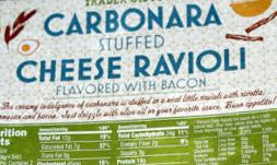 Trader Joe's Carbonara Stuffed Cheese Ravioli Flavored with Bacon