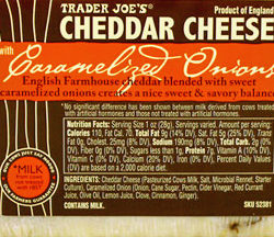 Trader Joe's Cheddar Cheese Caramelized Onions