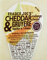 Trader Joe's Cheddar Melange Cheese & Gruyere