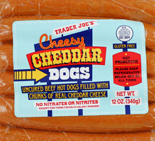 Trader Joe's Cheesy Cheddar Beef Hot Dogs