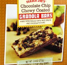 Trader Joe's Chocolate Chip Chewy Coated Granola Bars