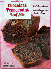 Trader Joe's Chocolate Peppermint Loaf Mix