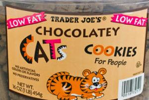 Trader Joe's Chocolatey Cats Cookies