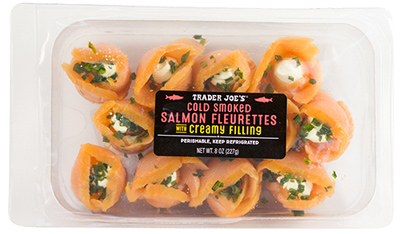 Trader Joe's Cold Smoked Salmon Fleurettes with Creamy Filling