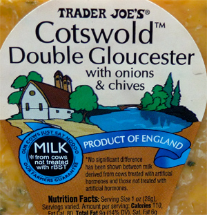 Trader Joe's Cotswold Double Gloucester Cheese with Onions & Chives