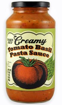 Trader Joe's Creamy Tomato Basil Pasta Sauce