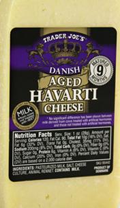 Trader Joe's Danish Aged Havarti Cheese