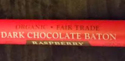 Trader Joe's Organic Fair Trade Dark Chocolate Baton Raspberry