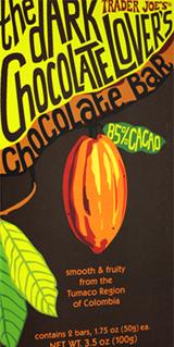 Trader Joe's Dark Chocolate Lover's Chocolate Bar