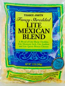 Trader Joe's Shredded Lite Mexican Cheese Blend