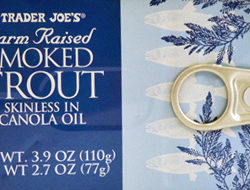 Trader Joe's Farm Raised Smoked Trout
