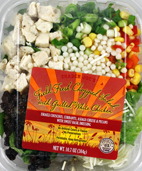 Trader Joe's Field Fresh Chopped Salad with Grilled White Chicken