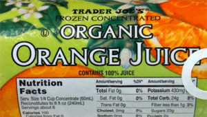 Trader Joe's Frozen Concentrated Organic Orange Juice