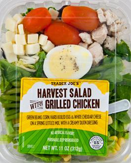 Trader Joe's Harvest Salad with Grilled Chicken