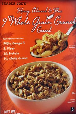 Trader Joe's Honey Almond & Flax Whole Grain Crunch Cereal