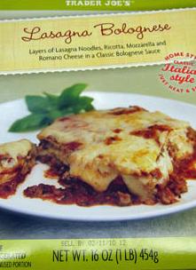 Trader Joe's Lasagna Bolognese