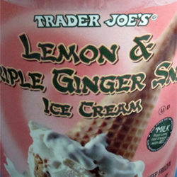 Trader Joe's Lemon & Triple Ginger Snap Ice Cream