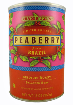 Trader Joe's Peaberry Coffee from Brazil