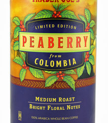 Trader Joe's Peaberry Coffee from Colombia